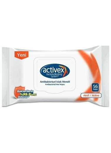 Activex Activex Antibakteriyel Islak Mendil Aktif 56 Yaprak Renksiz